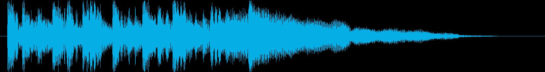 重厚な未来系デジタルエレクトロロゴの再生済みの波形