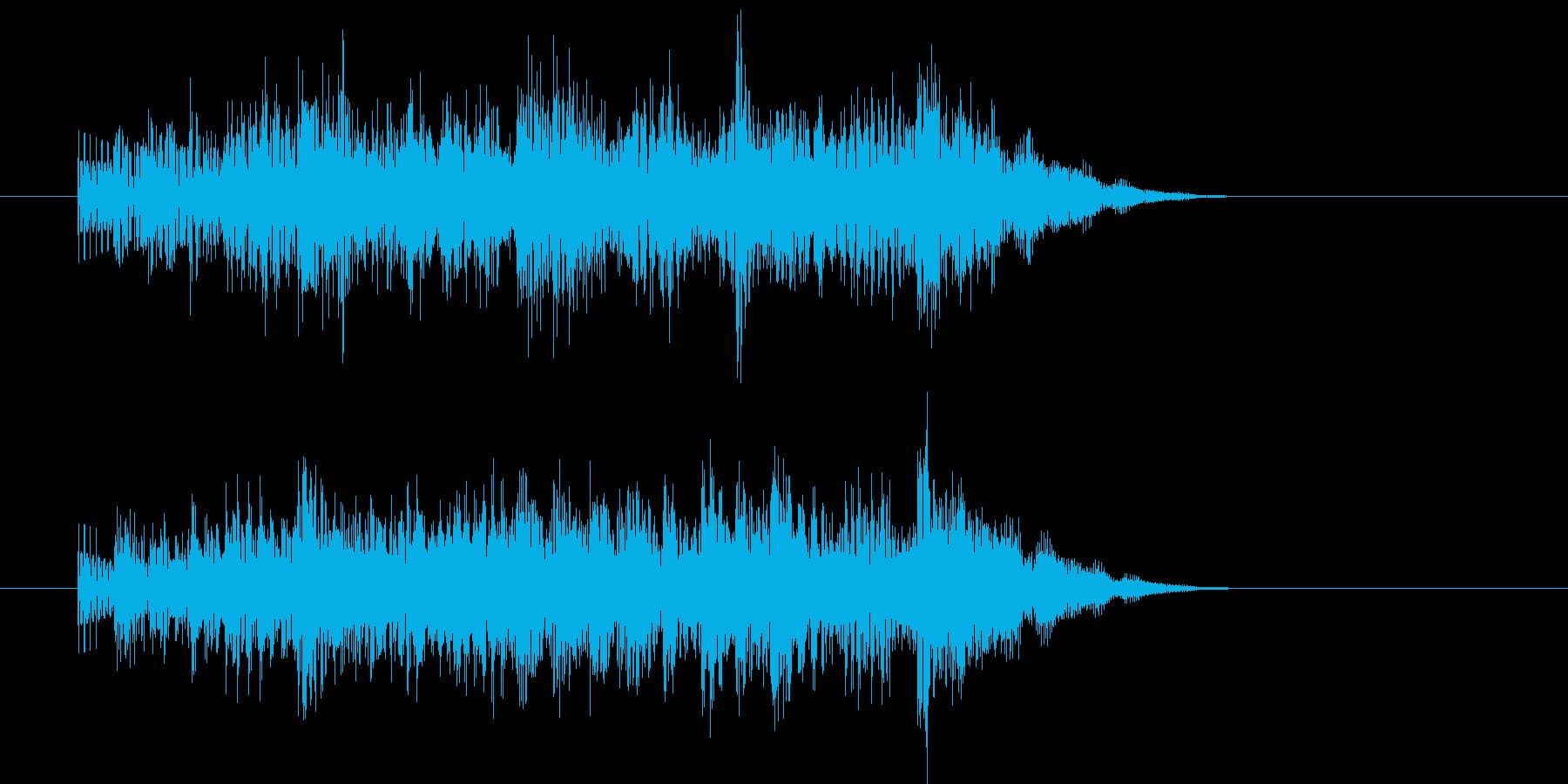 ステージクリアの効果音の再生済みの波形
