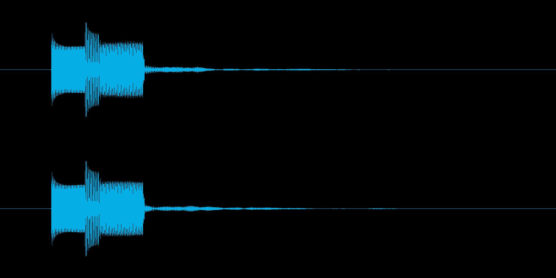 キャンセル音(クリック)の再生済みの波形