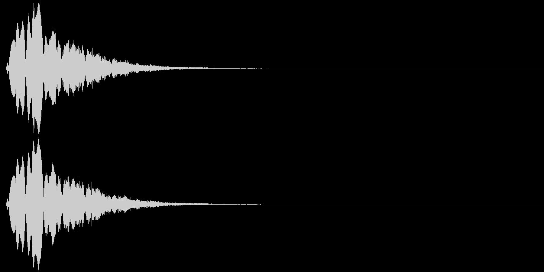 キラキラキラッ↓(流れ星)の未再生の波形