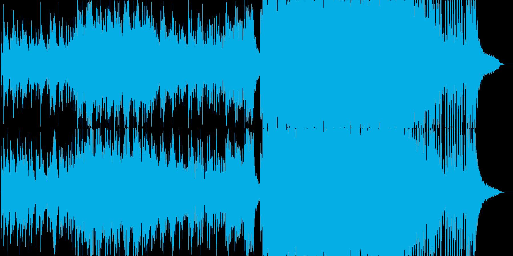 ピアノとシンセが綺麗な4つ打ち曲の再生済みの波形