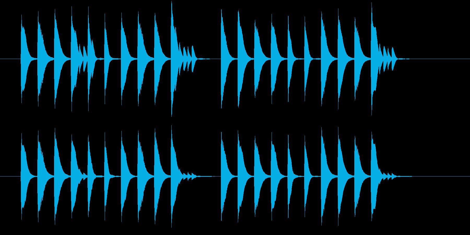 ほのぼのとした場面切替に使えるジングルの再生済みの波形