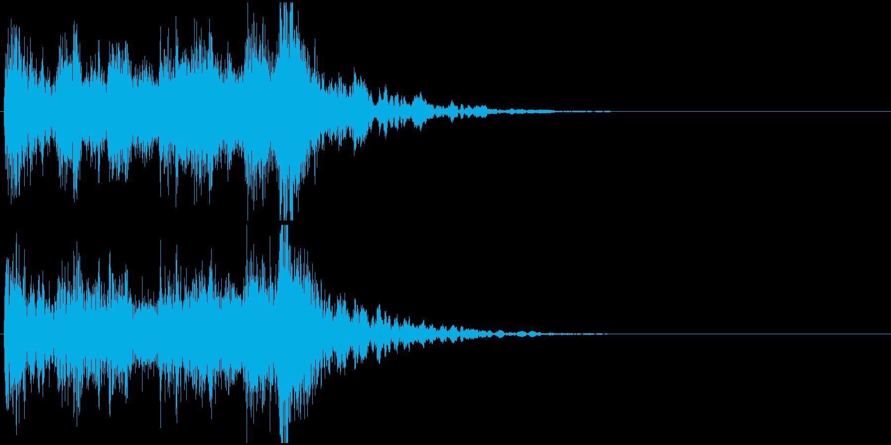 ジングル(ステージクリア・結果画面)の再生済みの波形