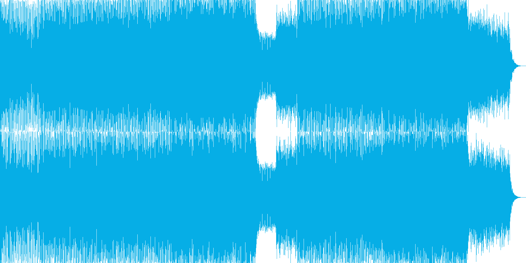 EDMクラブ系ダンスミュージック-58の再生済みの波形