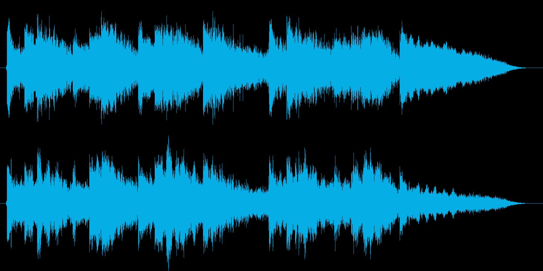 幻想的・ノスタルジックな空間系フレーズの再生済みの波形