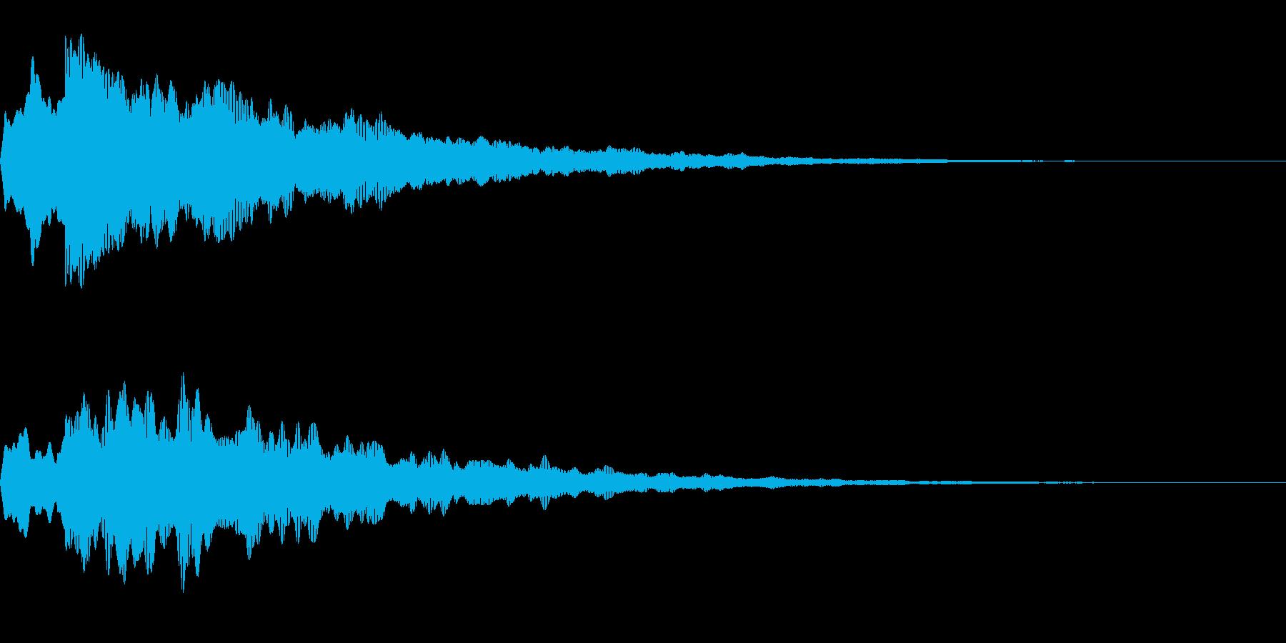キラッ(光る/星/コイン)の再生済みの波形