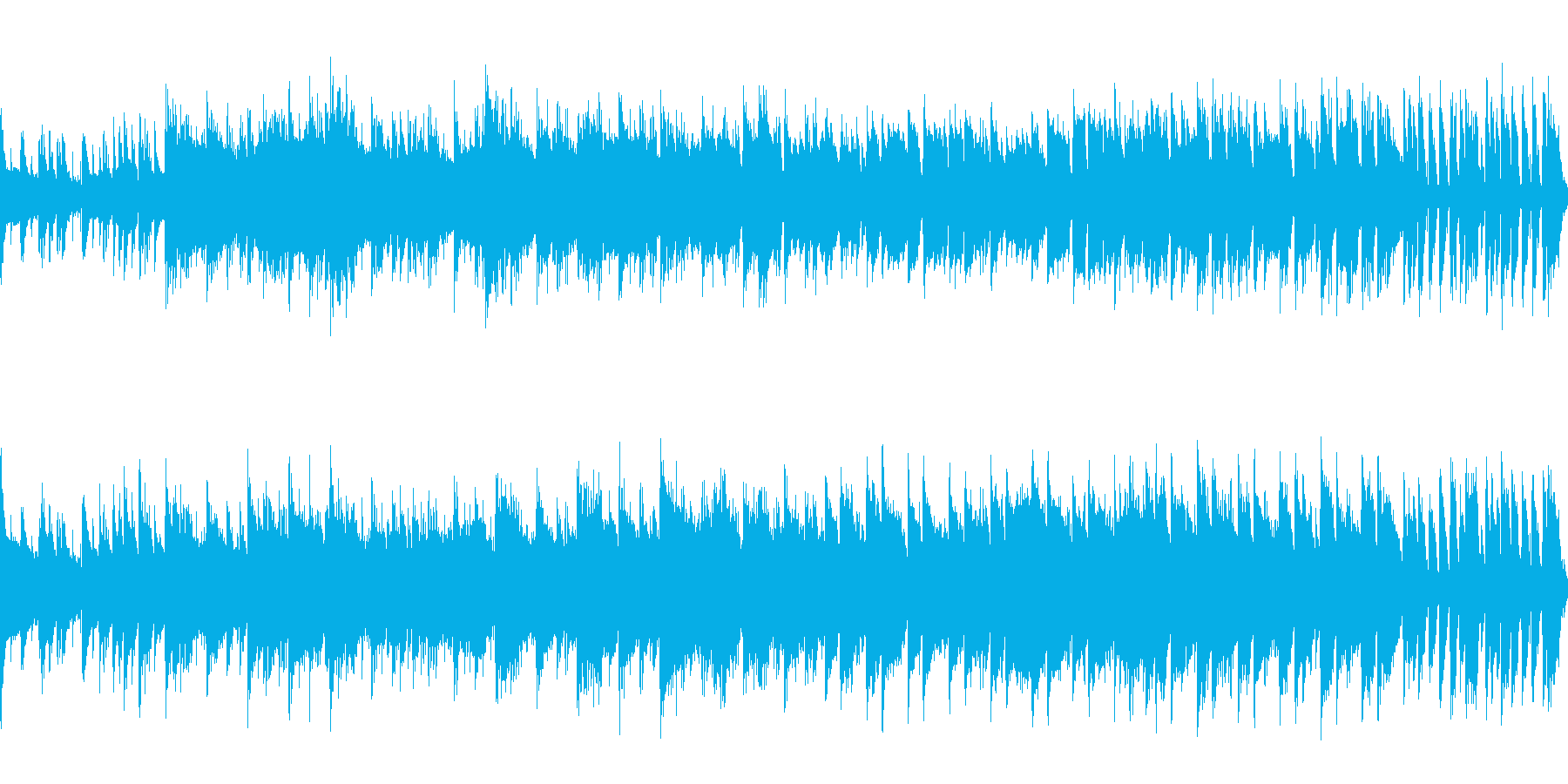 ゲーム、アクション・空面(Loop対応)の再生済みの波形