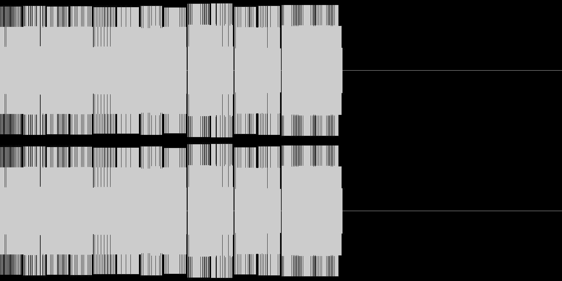 ゲームクリア、ファミコン風チップチューンの未再生の波形