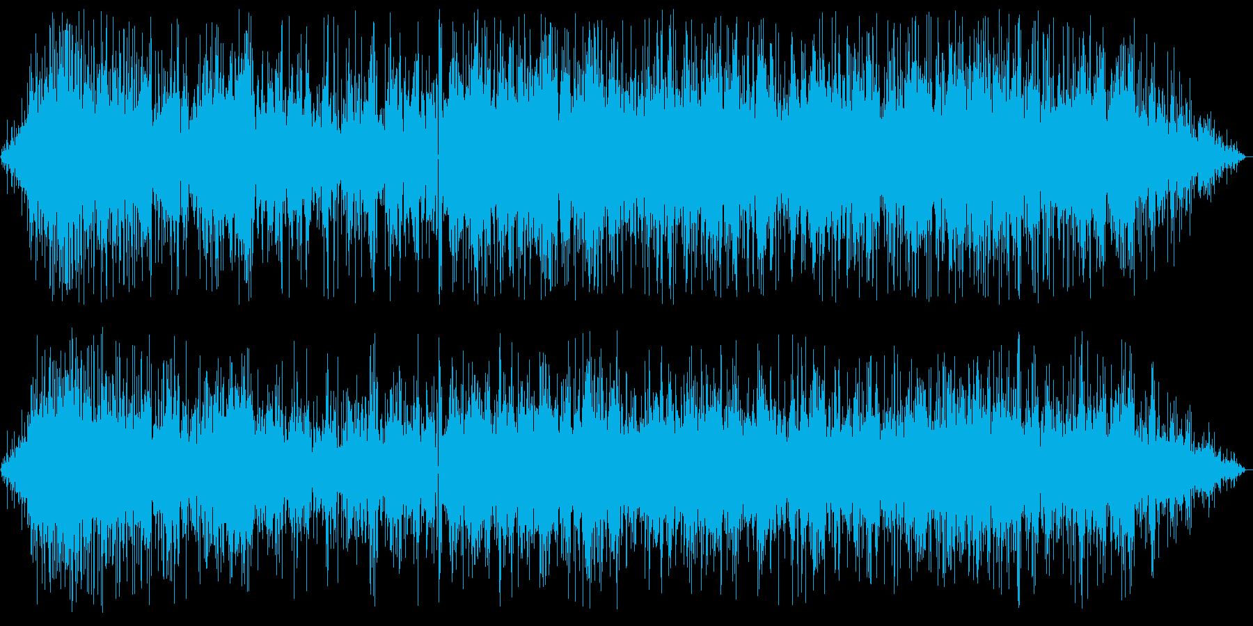 パチパチジュワー(揚げ物音)の再生済みの波形