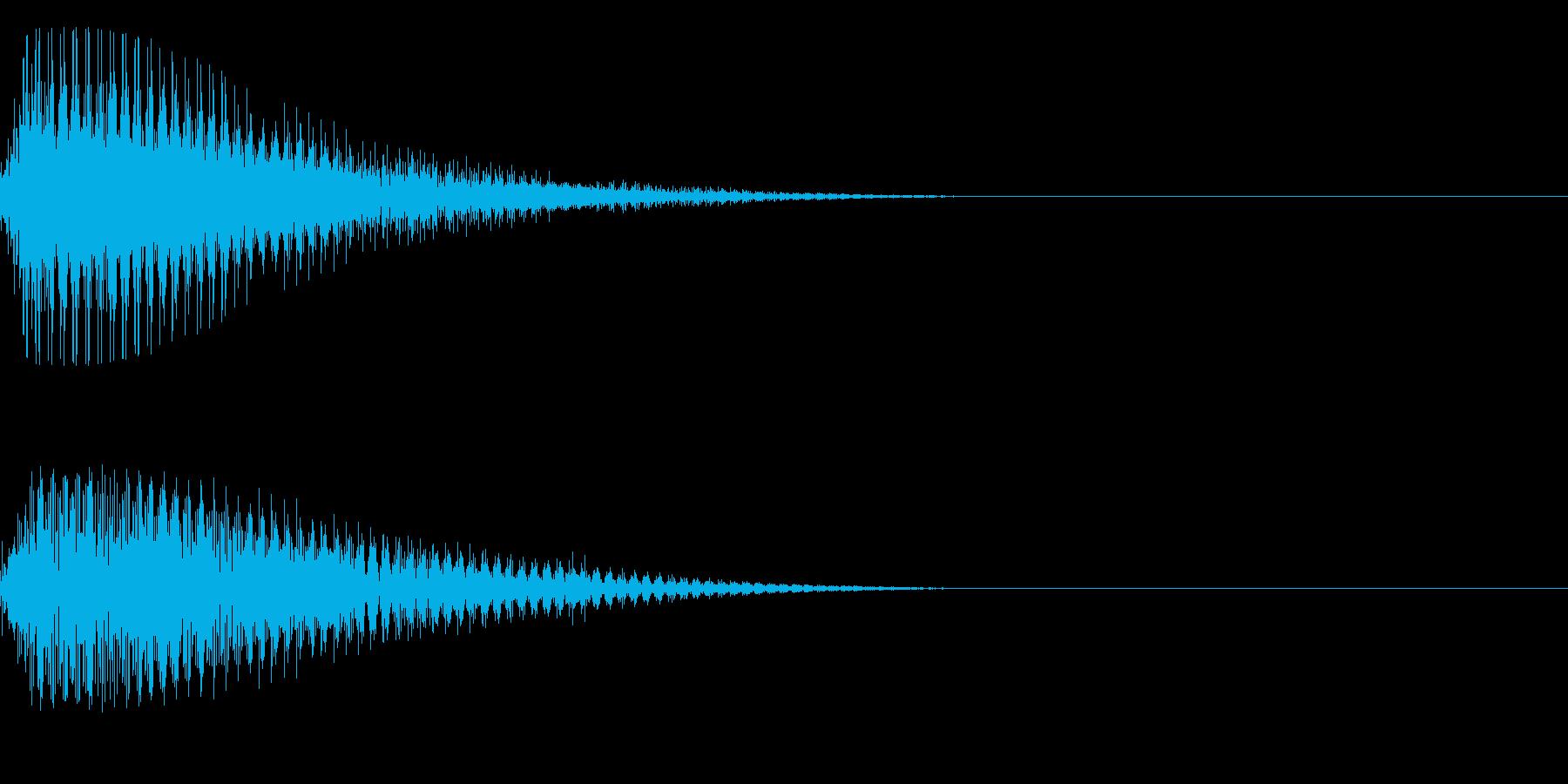 ブゥン~の再生済みの波形