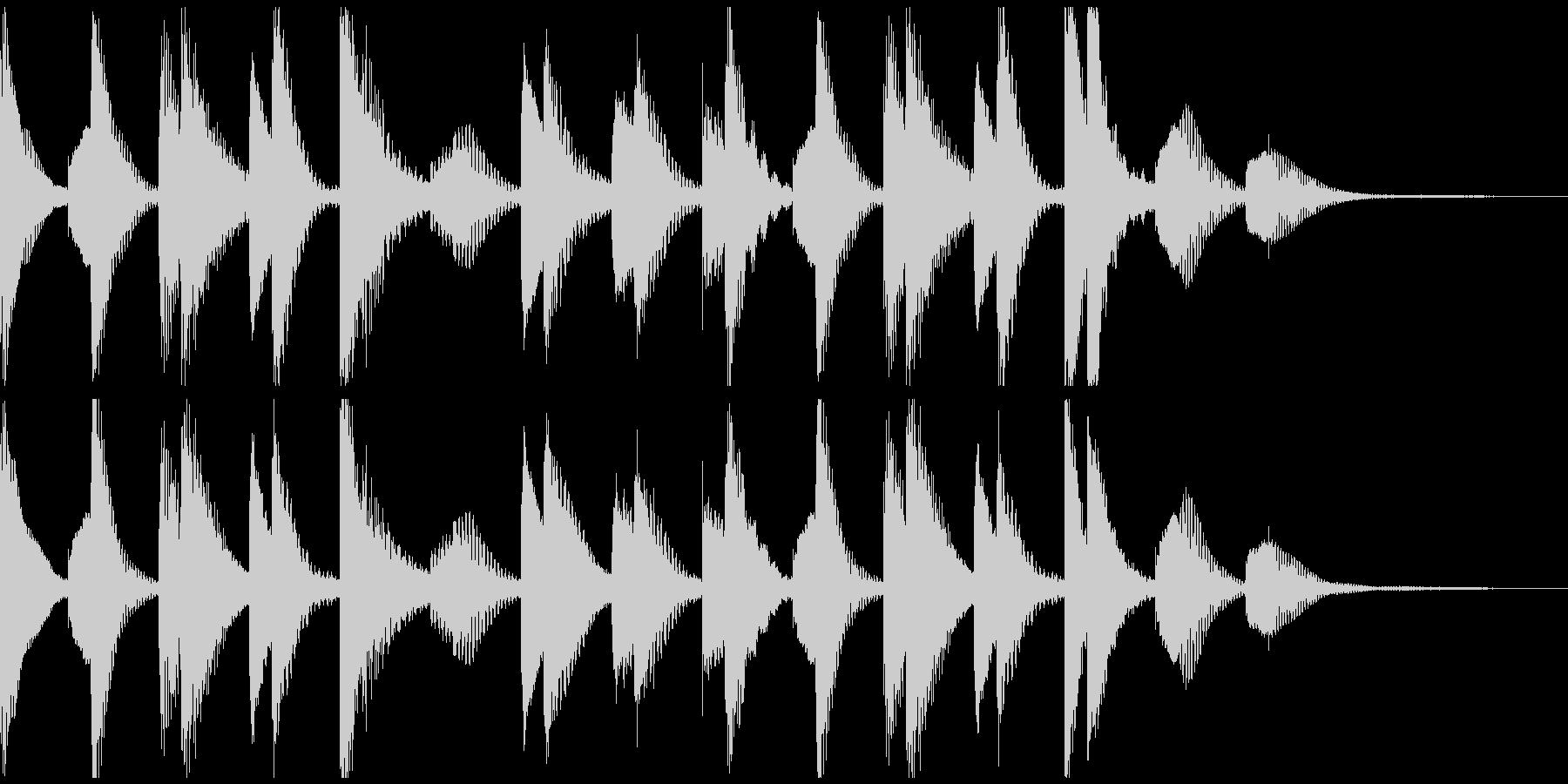 ほのぼの明るいマリンバ_ジングルCMの未再生の波形