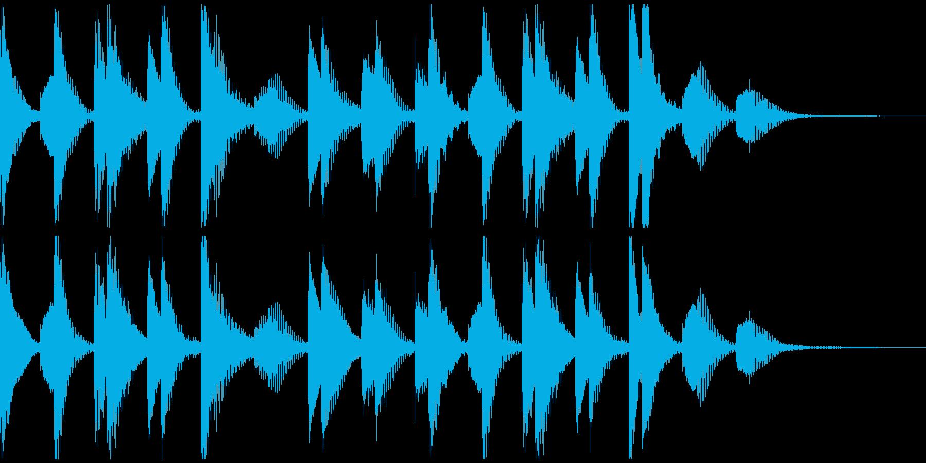 ほのぼの明るいマリンバ_ジングルCMの再生済みの波形