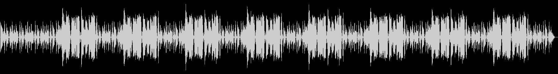ドラムとベースだけのシンプルなBGMの未再生の波形