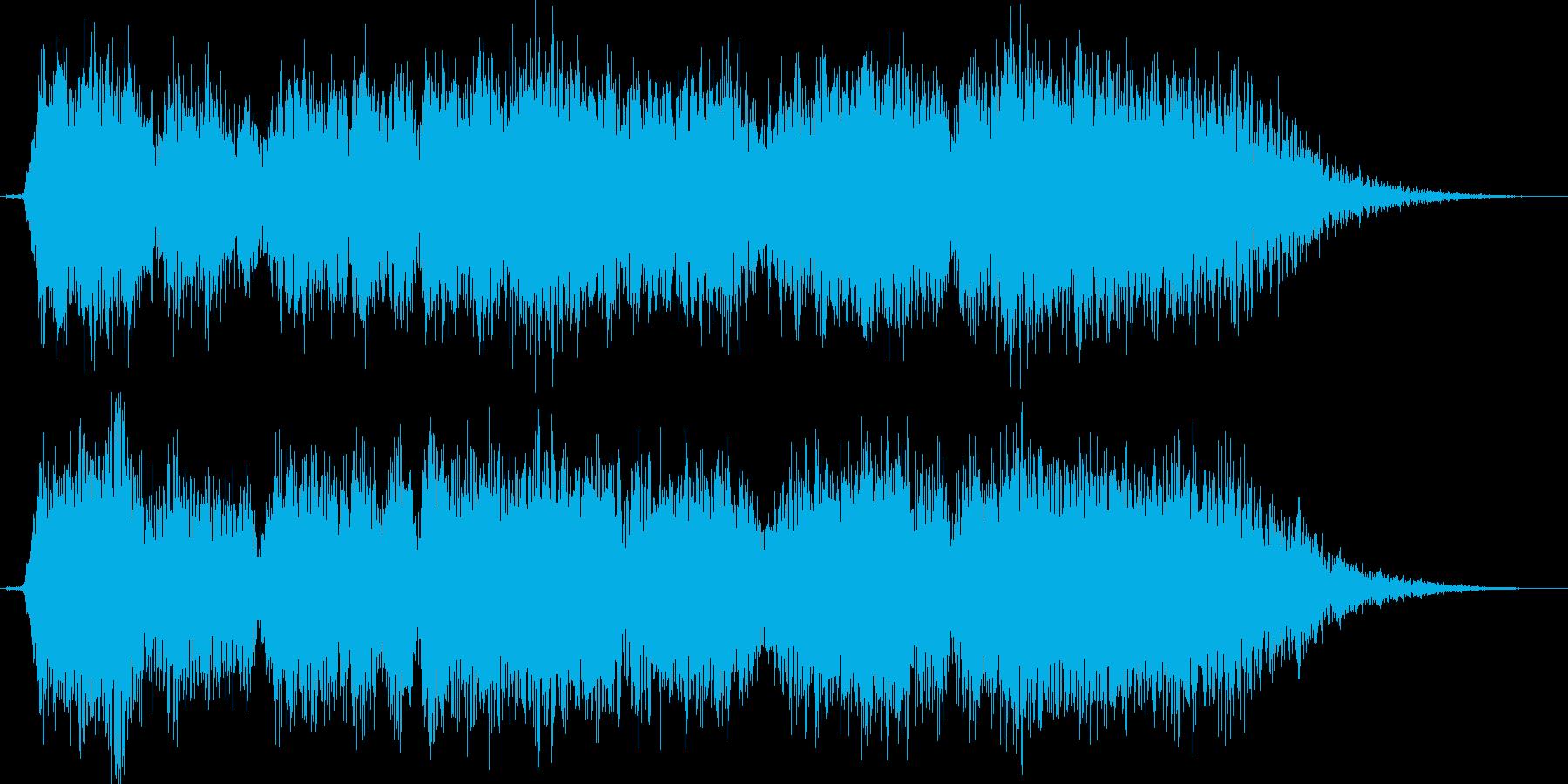 (暴れる声)の再生済みの波形