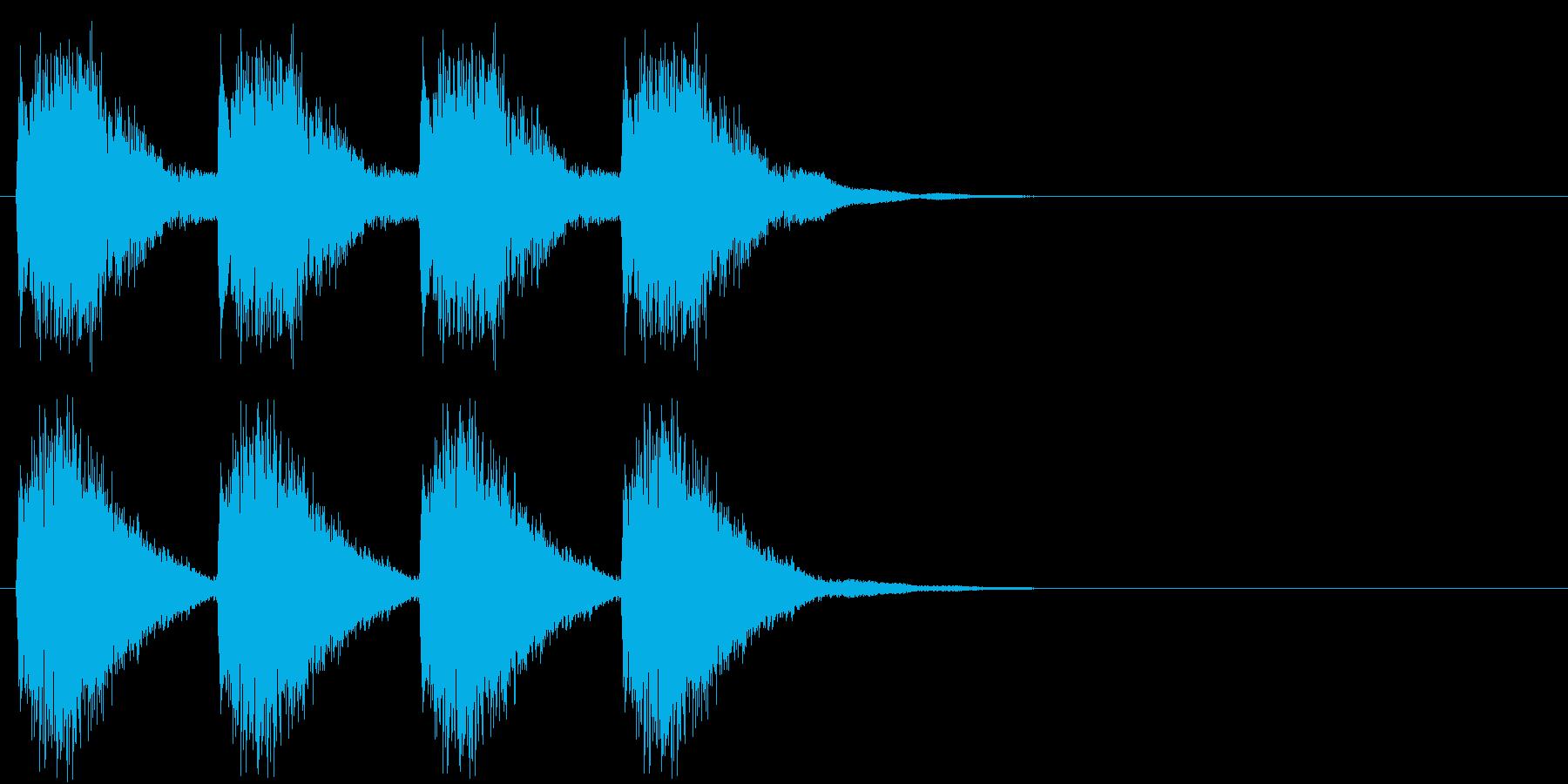 警告・警報・サイレン・ブザー#4(残響)の再生済みの波形