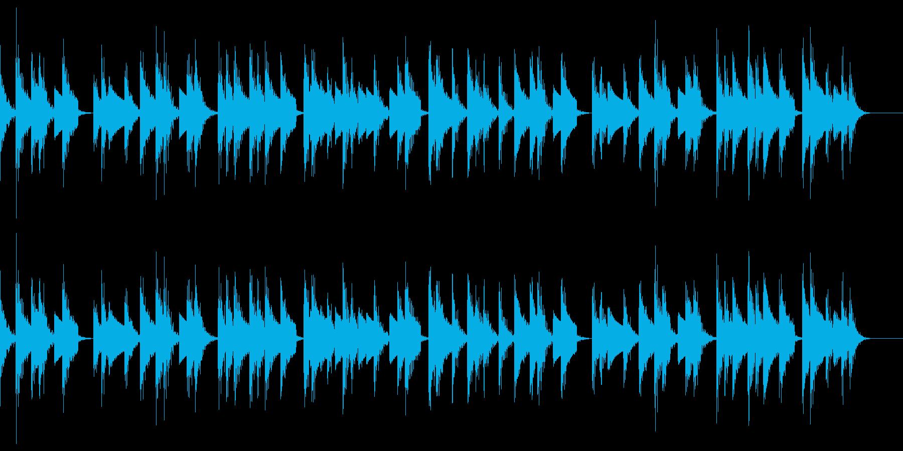 おしゃれでピアノテイストのBGMの再生済みの波形