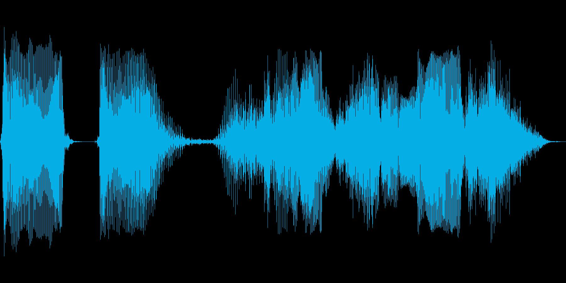 データを保存しますの再生済みの波形