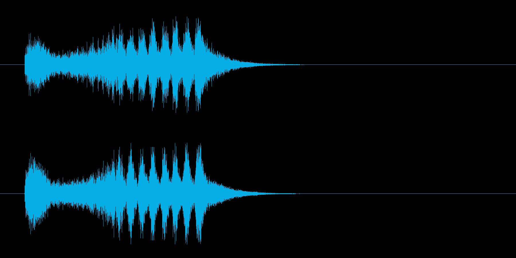 ジングル(サスペンス)の再生済みの波形