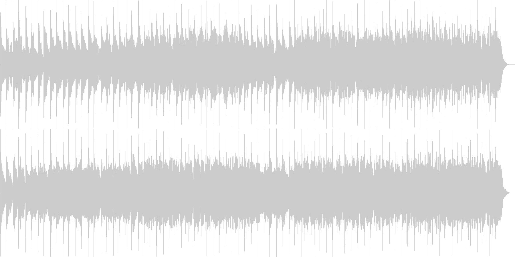 幻想的で儚げなアンビエント曲の未再生の波形