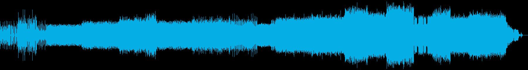 激しく速いDnBの再生済みの波形