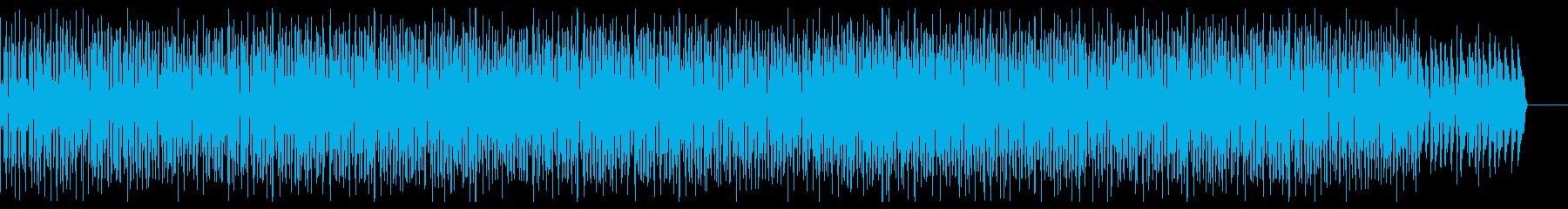 おしゃれで軽快な可愛いピアノ曲の再生済みの波形