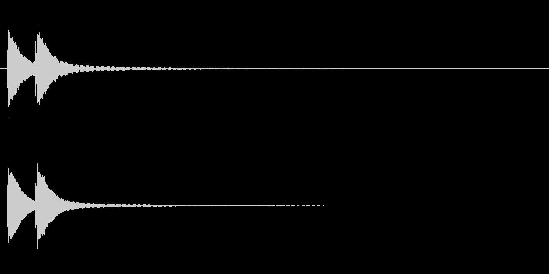 てぃんてぃーん(ハズレ エラー音系)の未再生の波形