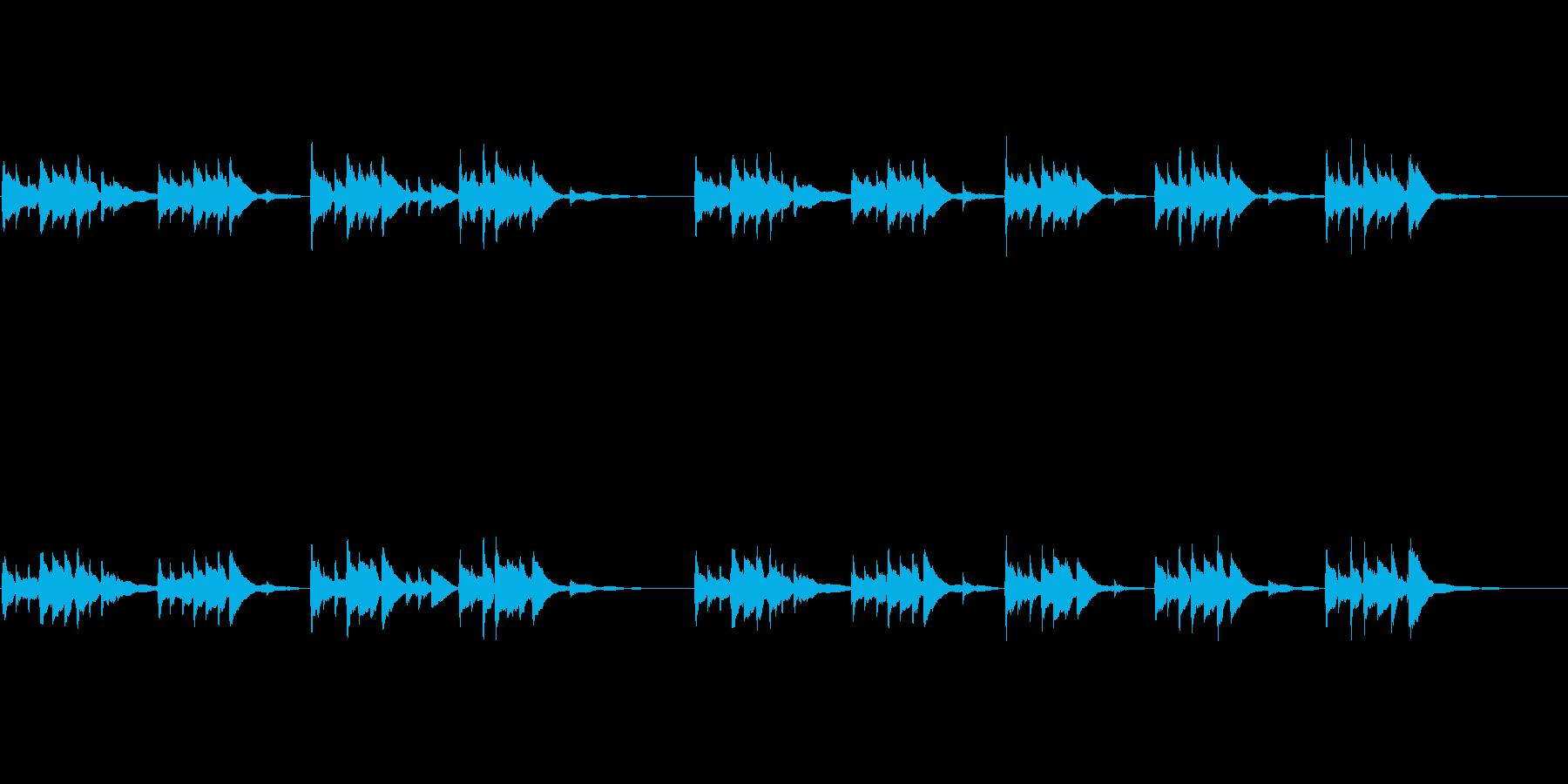幻想的で静かなケルティックハープの曲ですの再生済みの波形