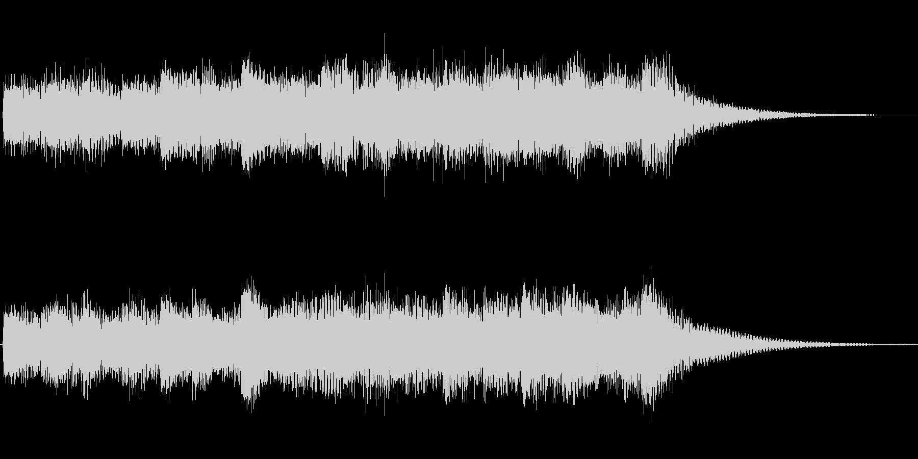 オルゴール音のチャイムの未再生の波形