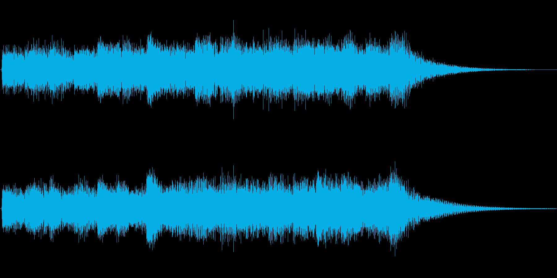 オルゴール音のチャイムの再生済みの波形
