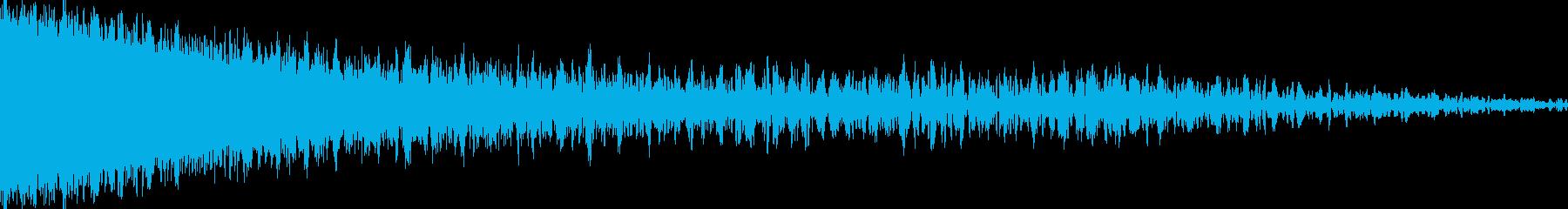 シューン(ワープ音、ビーム発射音)の再生済みの波形