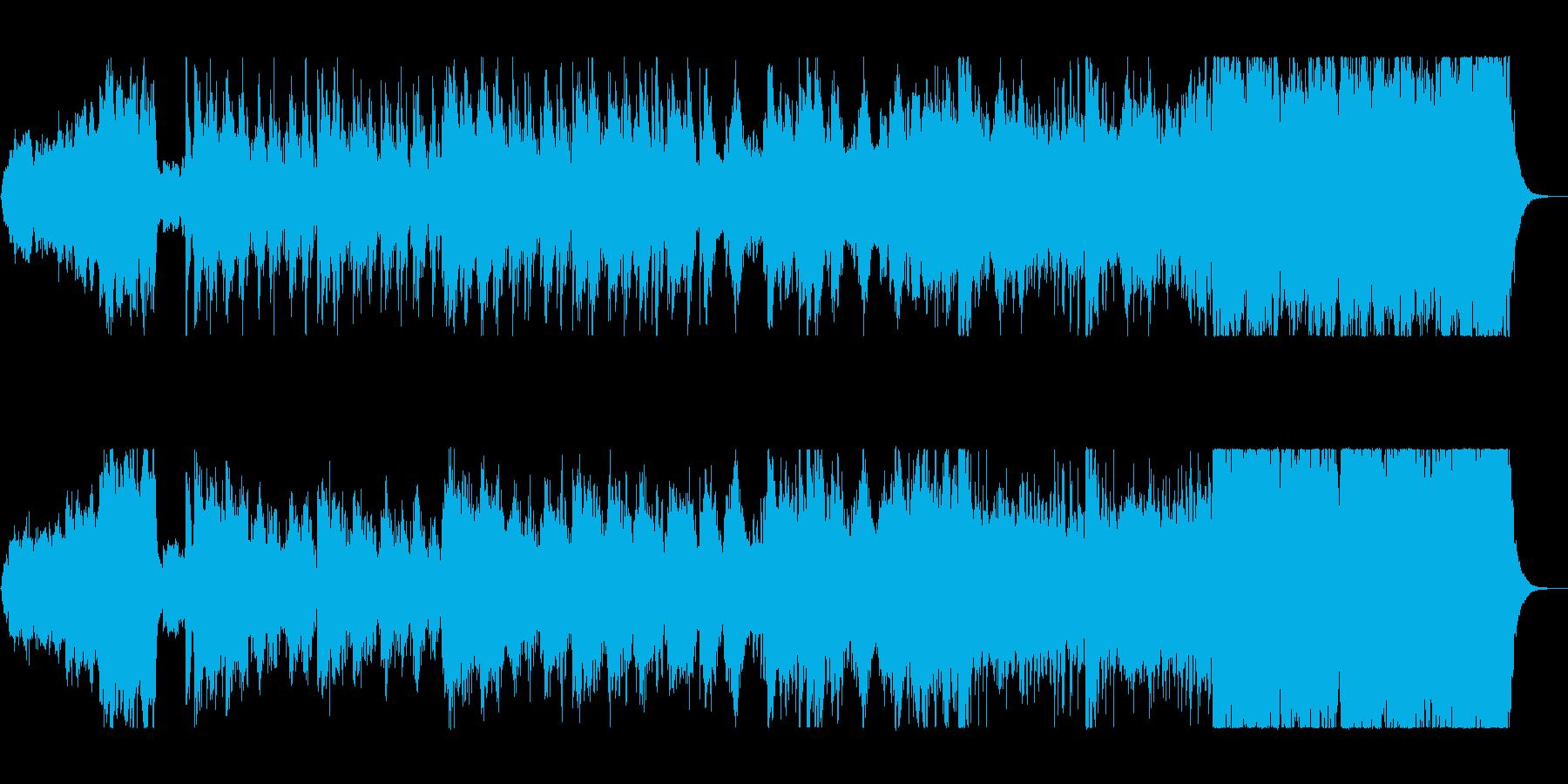 壮大で戦国時代を連想させる楽曲の再生済みの波形