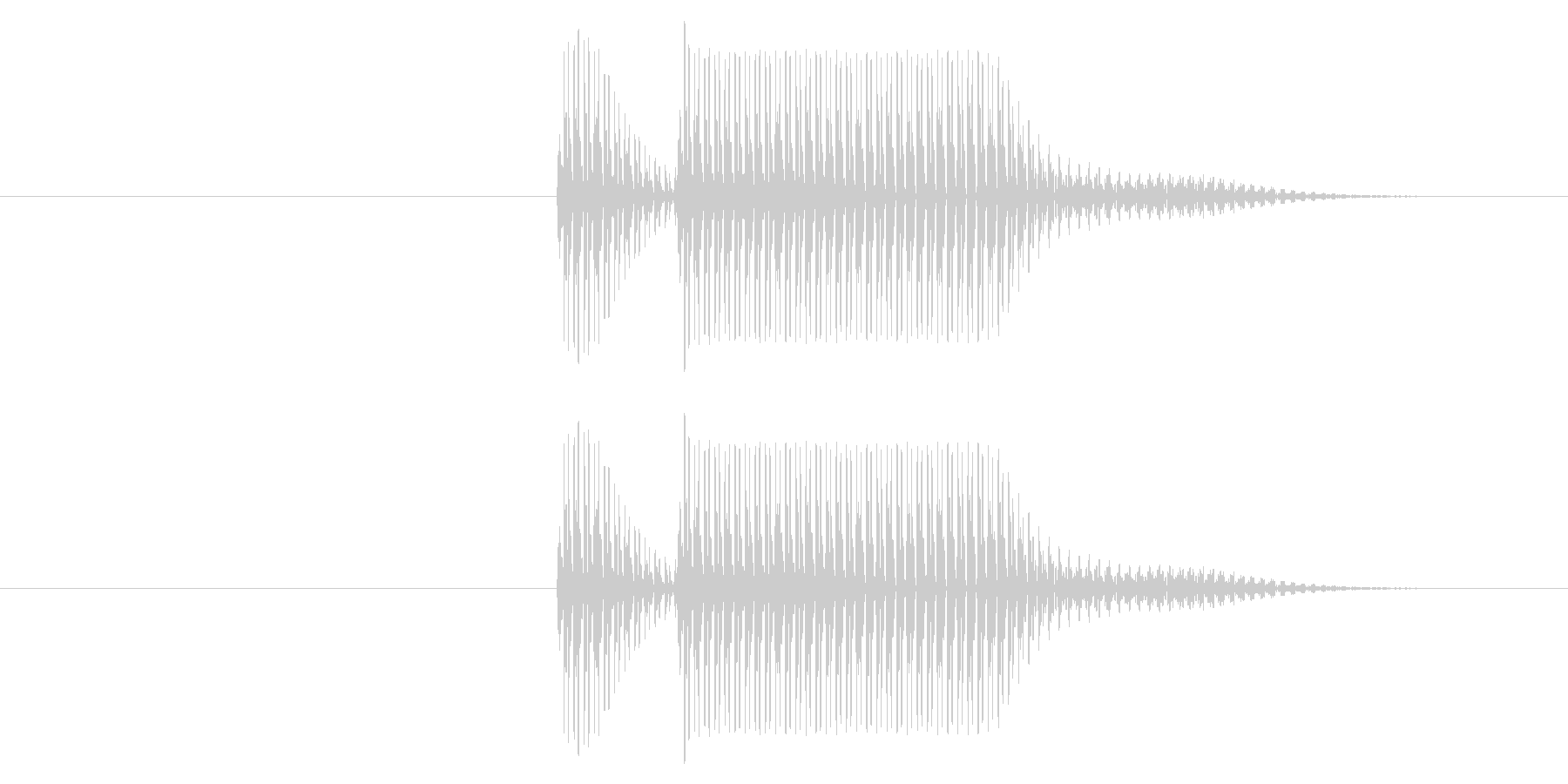 クイズの不正解やシステム効果音のキャン…の未再生の波形