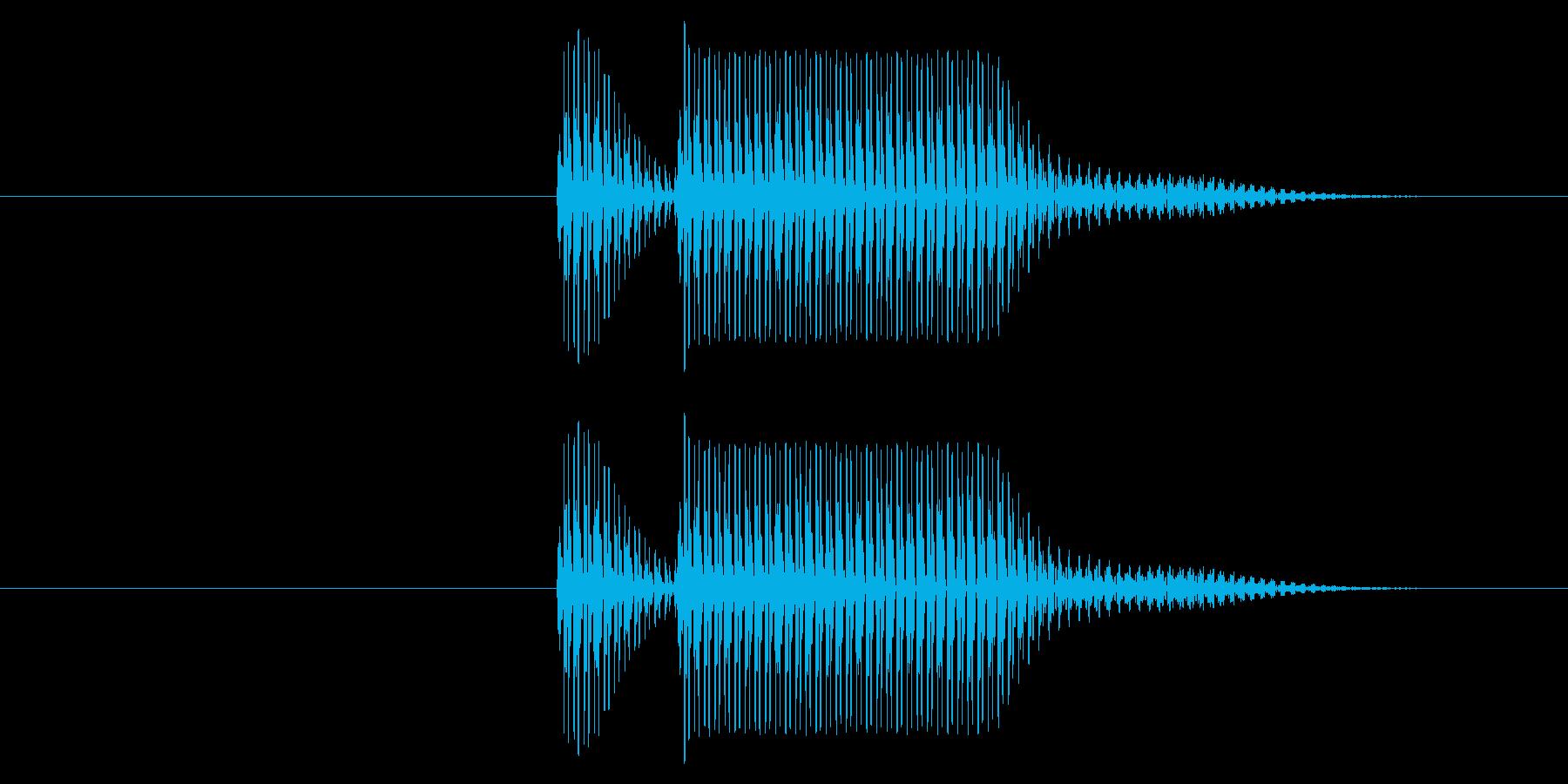 クイズの不正解やシステム効果音のキャン…の再生済みの波形