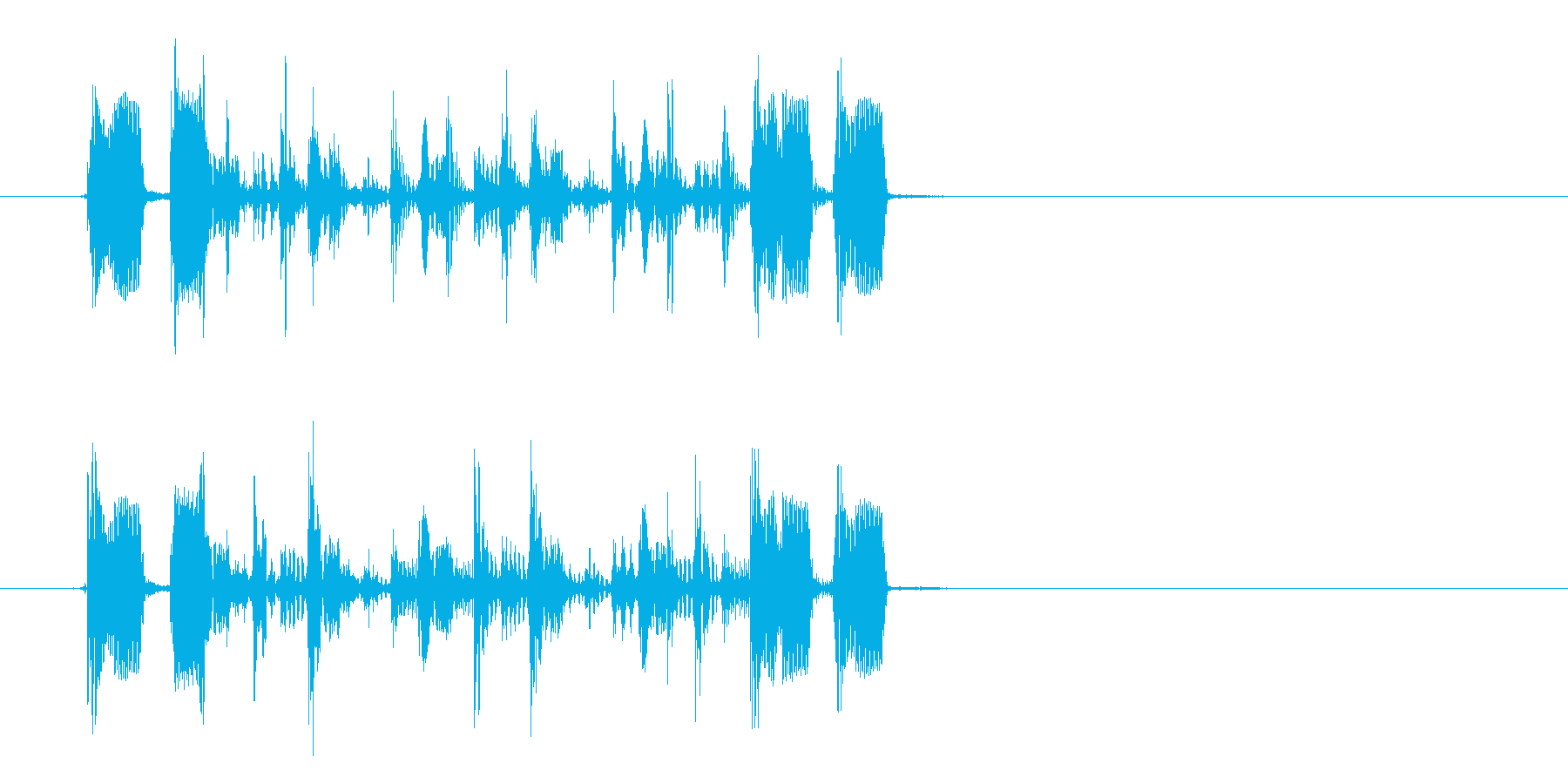 おしゃれで透明感のあるシンセサウンドの再生済みの波形