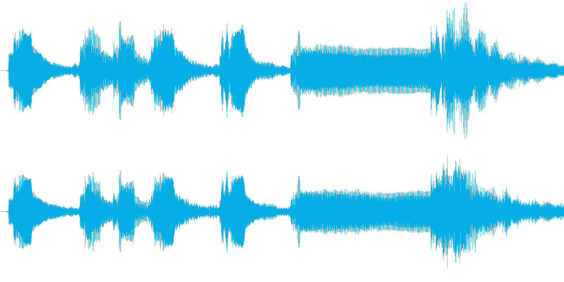 1,明るめのサウンドロゴ (3秒ロゴ)の再生済みの波形