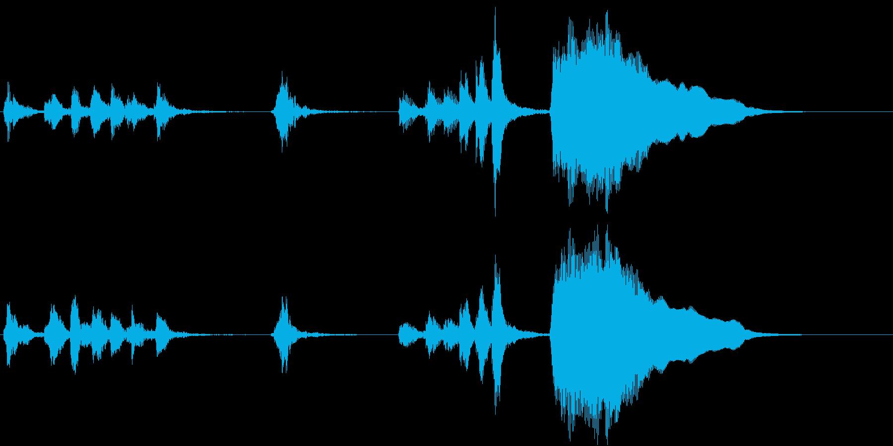 トムとジェリー風なアニメ音楽「忍び足」2の再生済みの波形