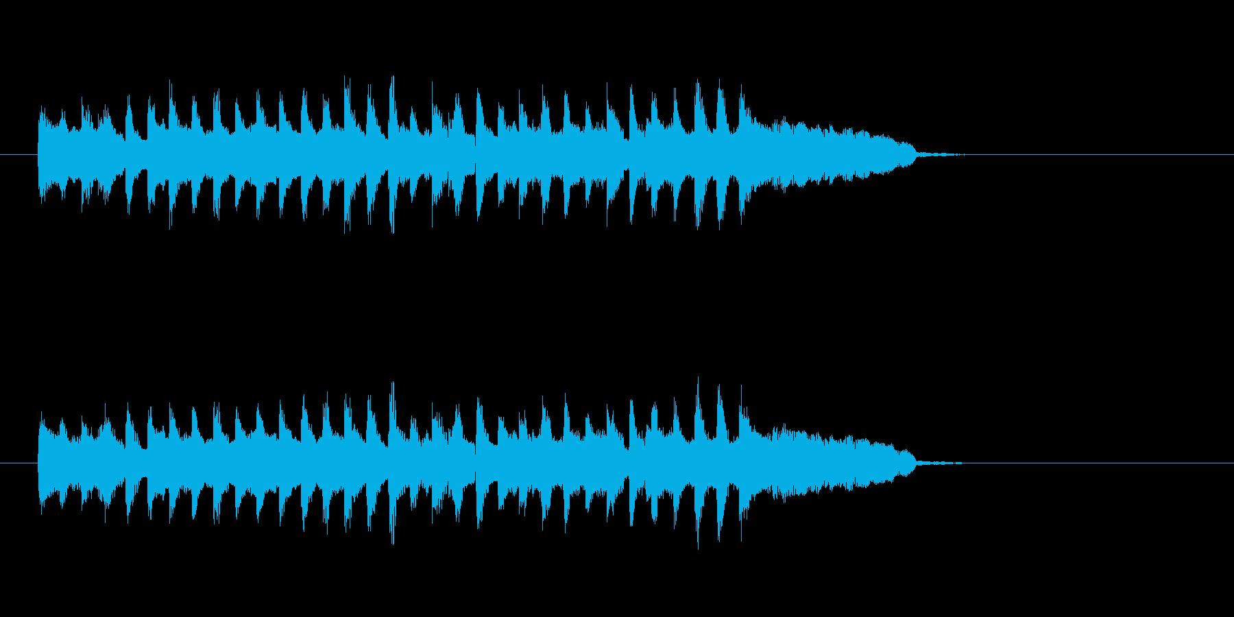 コミカル シンセサイザー ほのぼのの再生済みの波形
