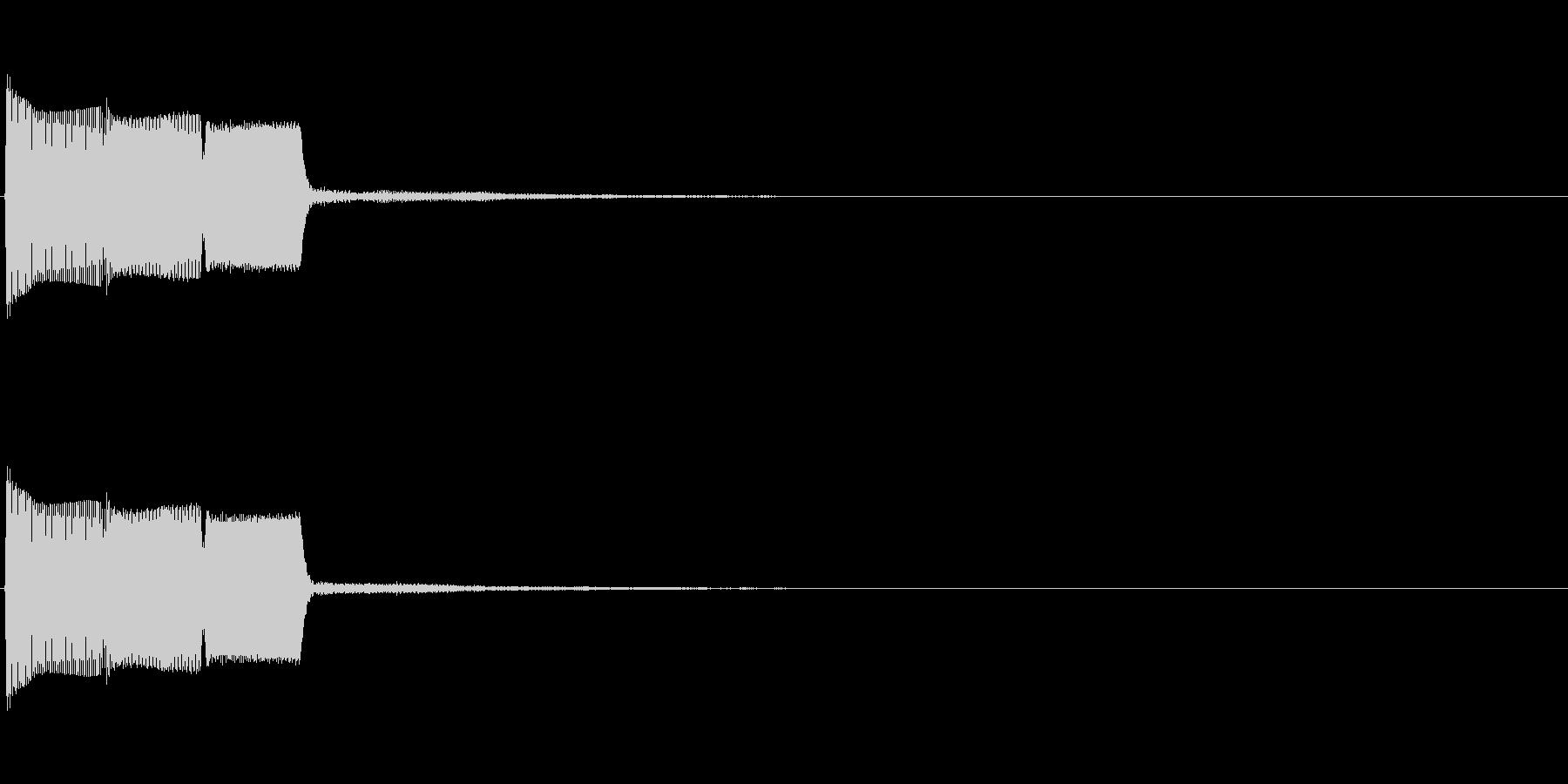 ピコ(操作音、ゲーム、アプリ、動画)の未再生の波形
