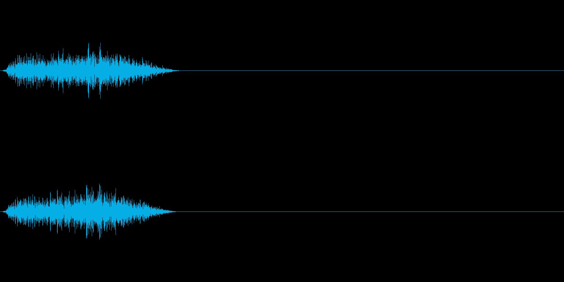 ピシー 斬撃音の再生済みの波形