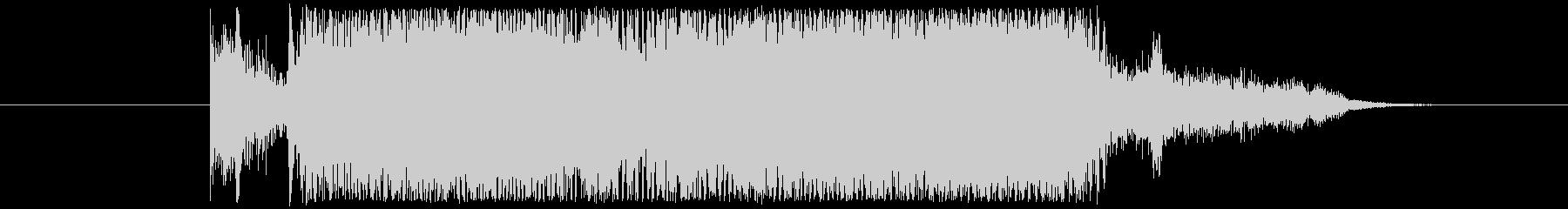 5秒程度のジングル、バンドサウンドです。の未再生の波形