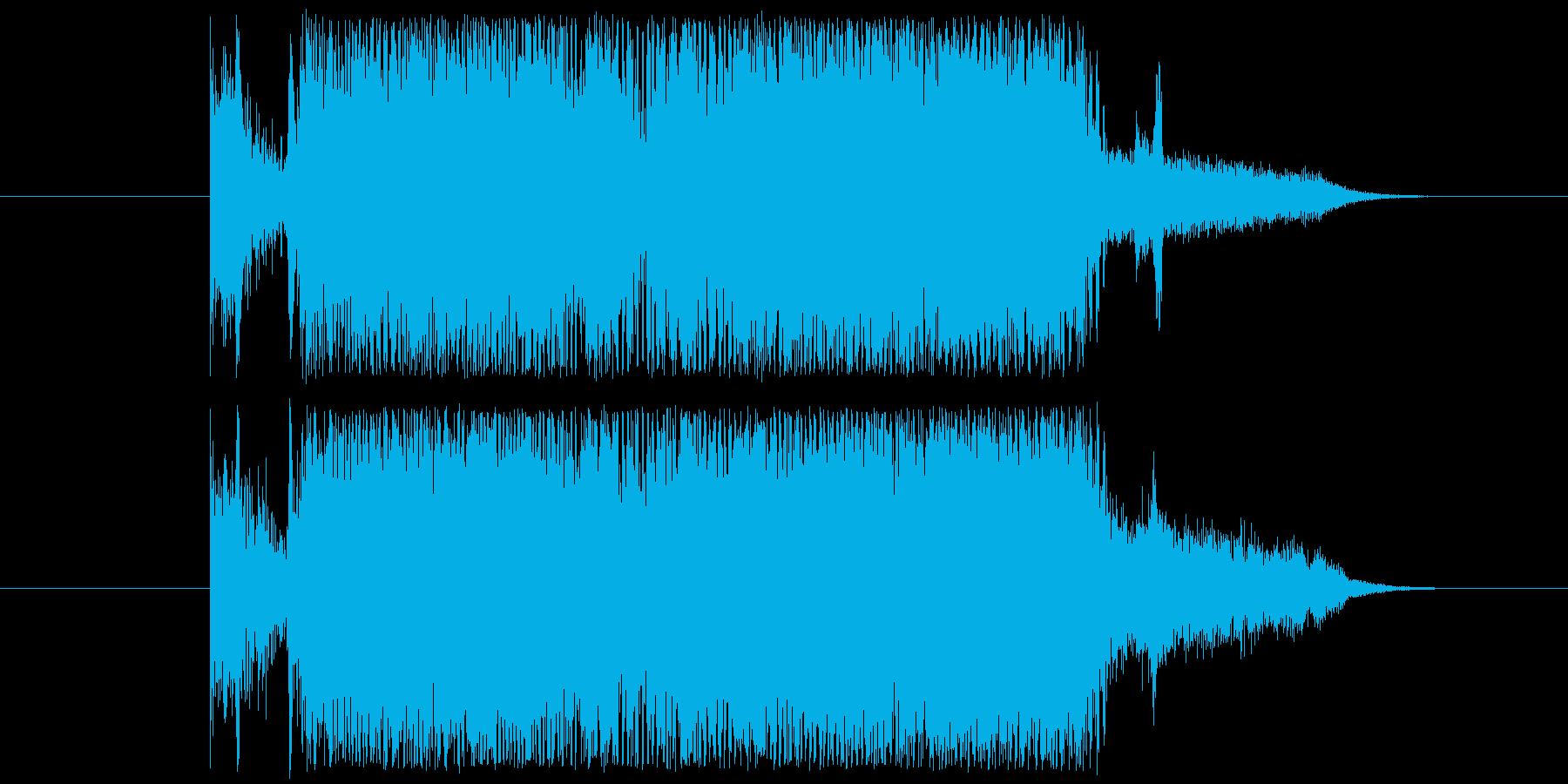 5秒程度のジングル、バンドサウンドです。の再生済みの波形