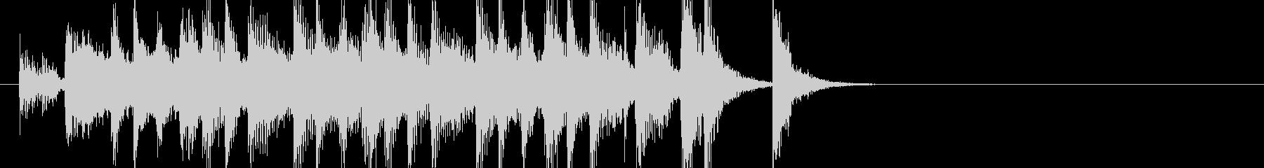 ほのぼのとして明るくポップなジングルの未再生の波形