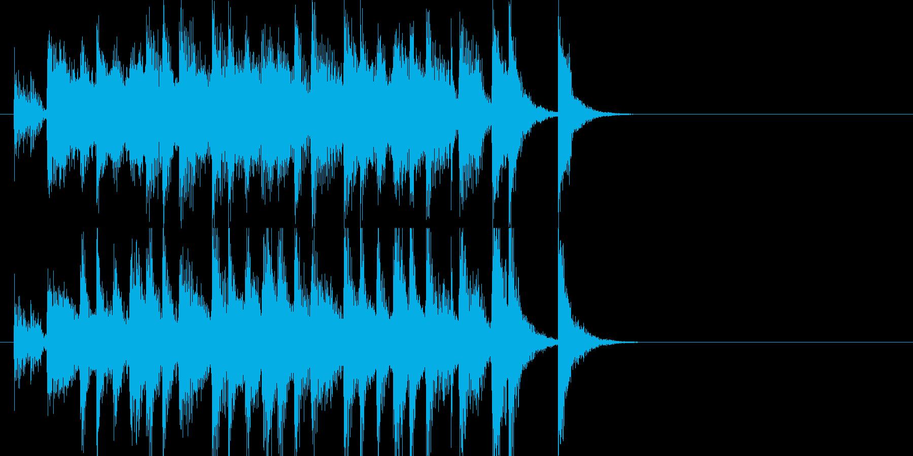 ほのぼのとして明るくポップなジングルの再生済みの波形