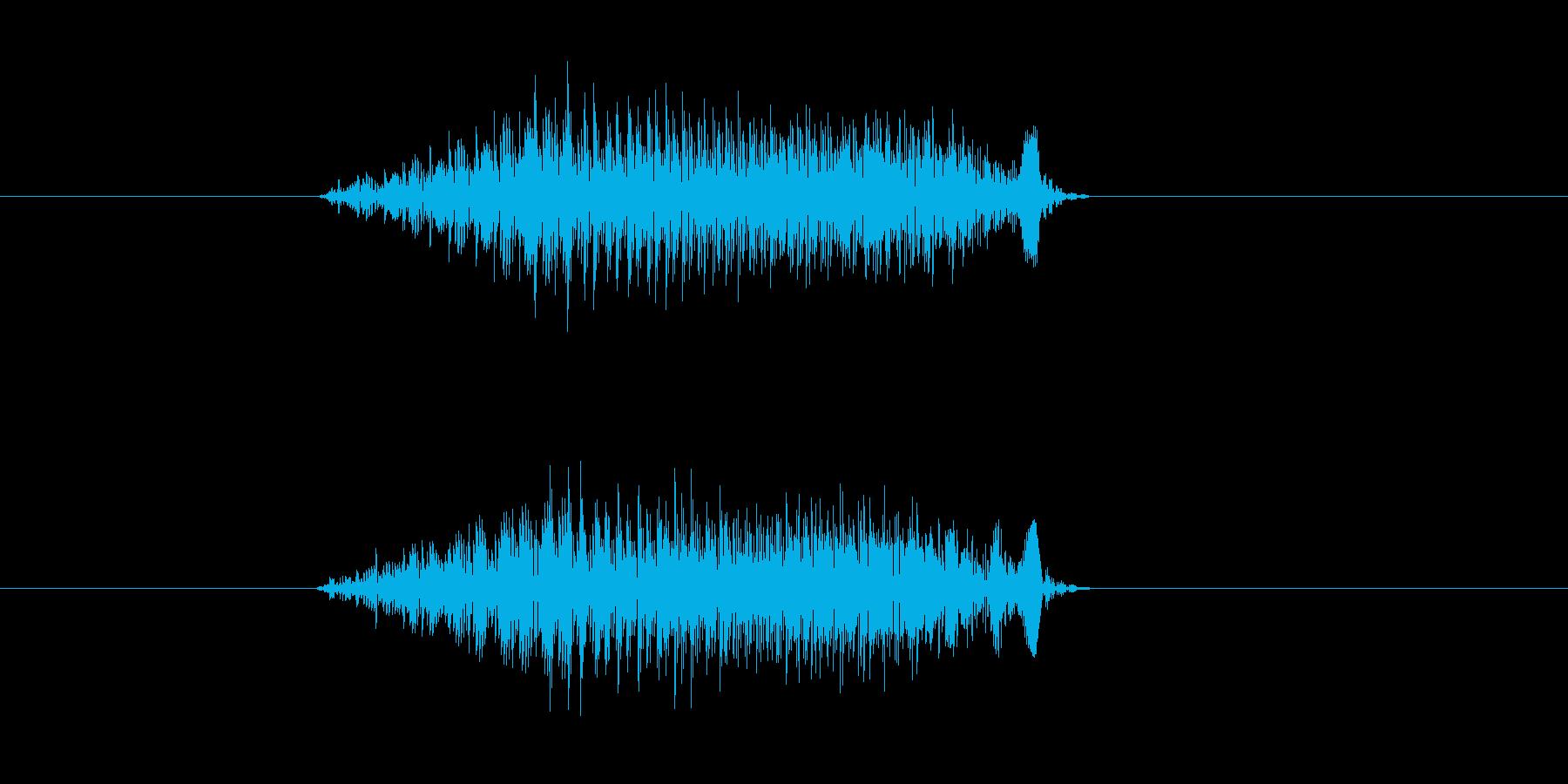シューン(飛ぶ、速い、通過)の再生済みの波形