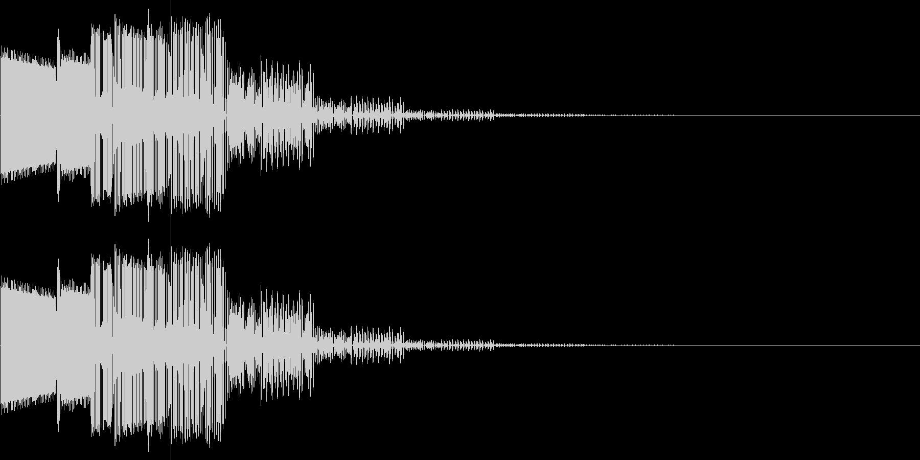 ピロロン(決定、キャンセル)の未再生の波形