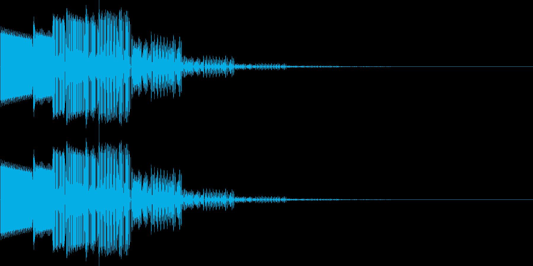 ピロロン(決定、キャンセル)の再生済みの波形