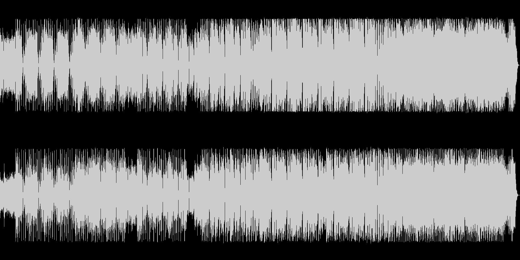 ワイルドな不規則なリズムが攻めてくる曲の未再生の波形