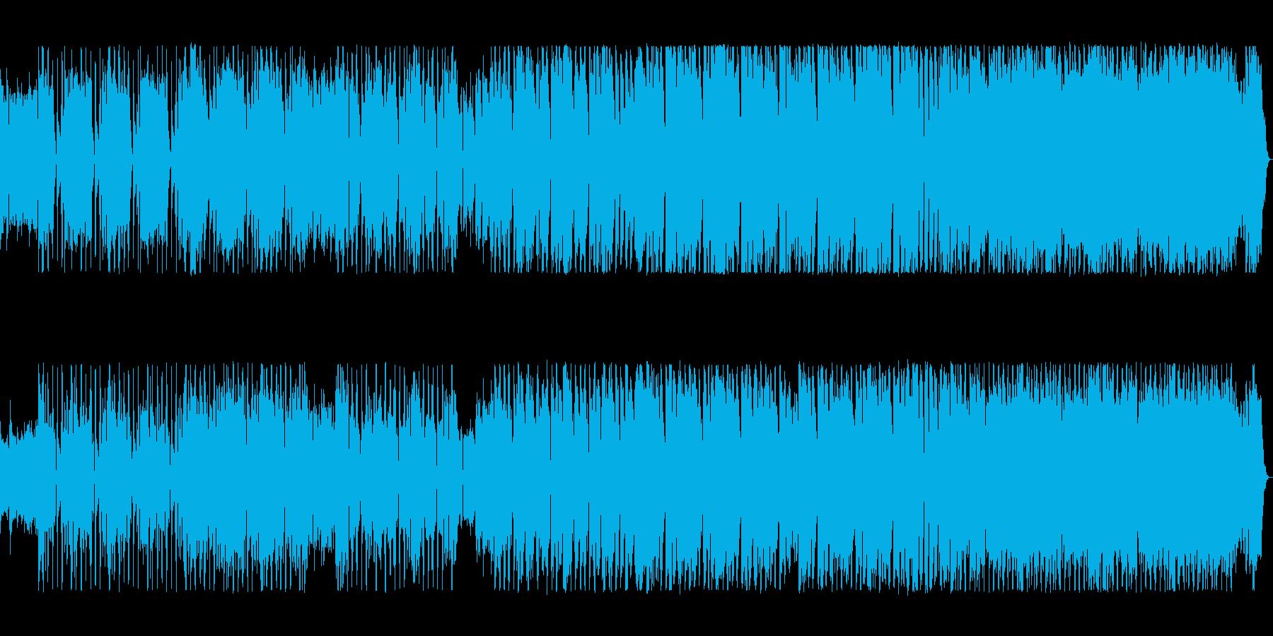 ワイルドな不規則なリズムが攻めてくる曲の再生済みの波形