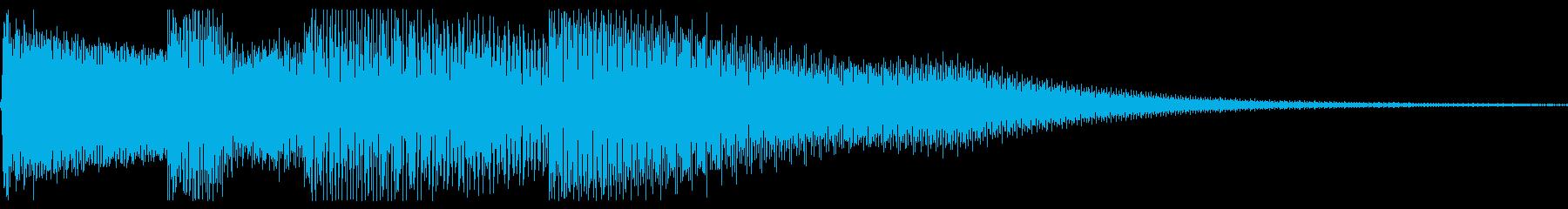 ピロロロン(ボタン音・決定音)下降メロ の再生済みの波形