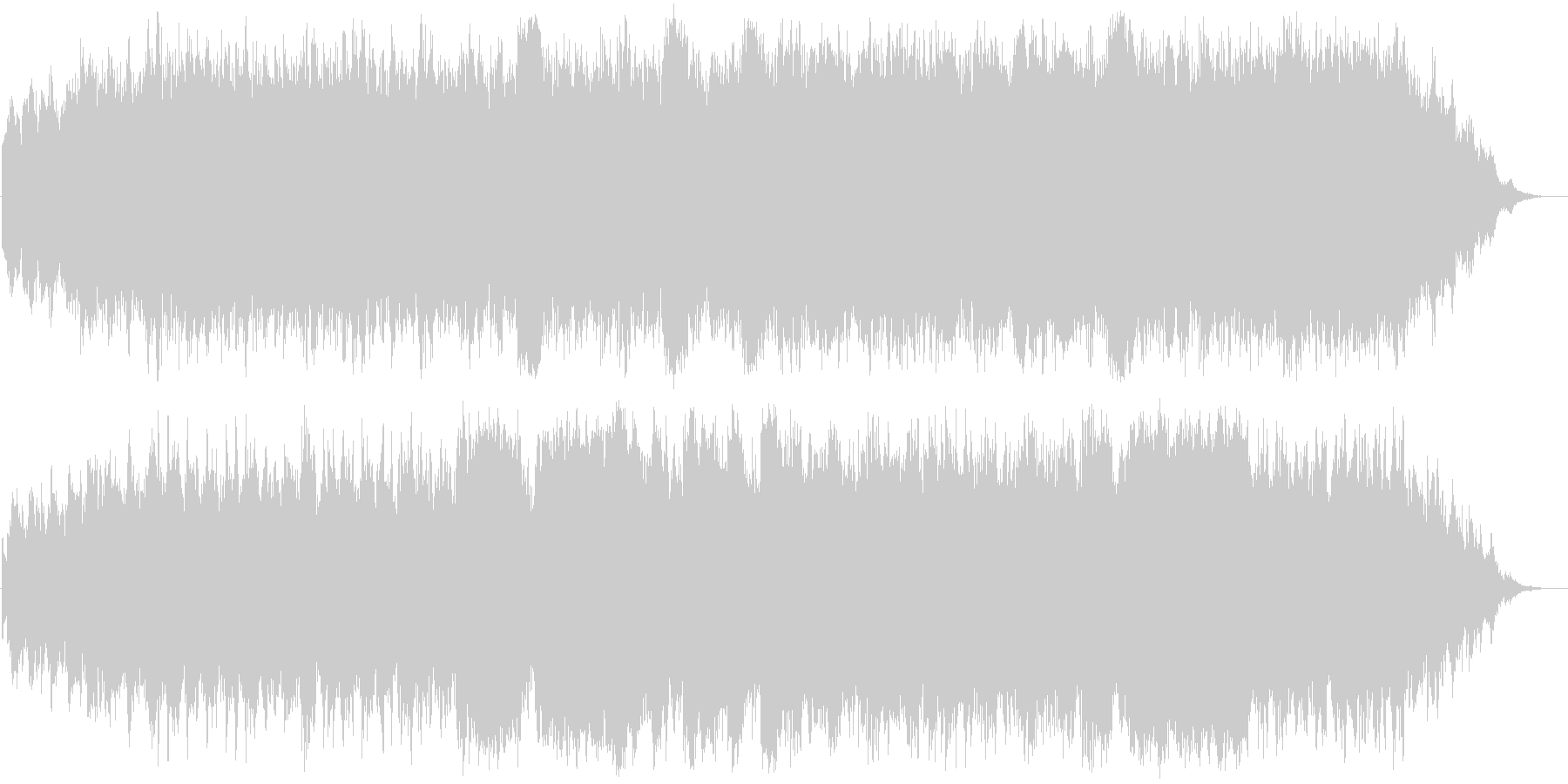 ガムランとピアノの幻想曲の未再生の波形